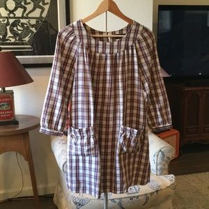 Vintage plaid A.P.C. Dress with pockets